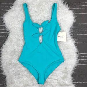 Mara Hoffman front tie one piece swimsuit